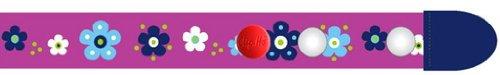 Clip-Ho Clipho Gürtel ohne Schnalle Blumen lila 92-116