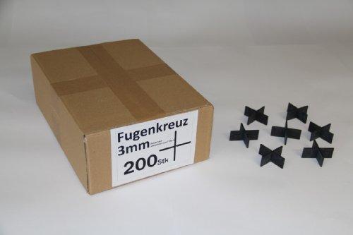 Fugenkreuze 3mm, Bauhöhe 20mm, 200 Stück im Karton