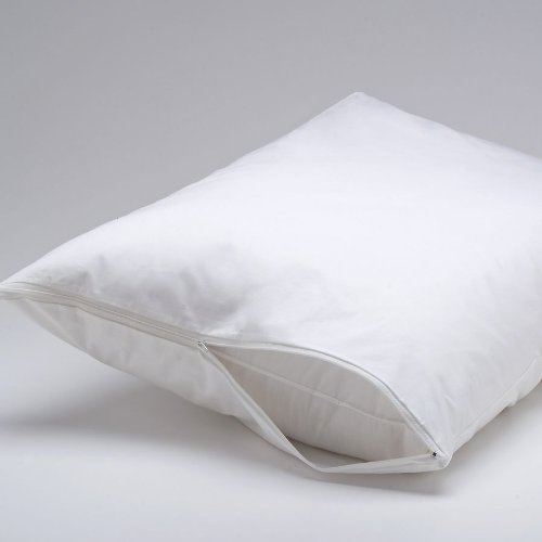 Ultra Weiche Hypoallergen 100% wasserdicht Reißverschluss Kissen Displayschutzfolie umgreifung Bettwanzen und milbenfest Proof Set., Mikrofaser, weiß, King Size (Bug King-size-bett Protector)