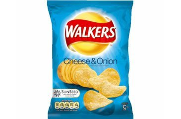 Walkers Crisp Cheese & Onion 32.5g Bags (box of 32)