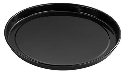 Dr. Oetker Back- und Pizzablech Emaille, rundes Pizzablech mit hoher Lebensdauer, für knusprige Pizza im Ofen - hitzebeständig & emailliert, Menge: 1 Stück