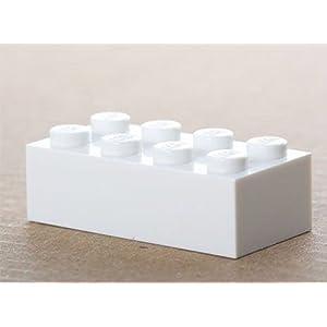 LEGO 100x white Basic Brick 2x4 (3001) New 4056399120634 LEGO