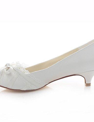 WSS 2016 Chaussures Femme-Mariage / Habillé / Soirée & Evénement-Ivoire-Talon Bas-Talons / Bout Ouvert / Bout Arrondi-Talons-Soie ivory-us6 / eu36 / uk4 / cn36