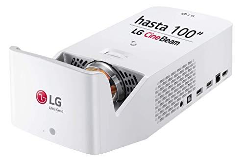 """LG CineBeam HF65LSR - Proyector TV de Tiro Corto (hasta 100\"""", Fuente LED, 1.000 lúmenes, Resolución 1920 x 1080) Color Blanco"""
