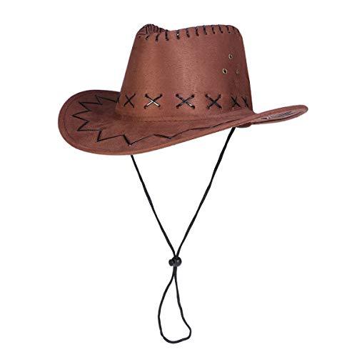 Revolverheld Kostüm Cowboy - Amosfun Western Cowboy Hat Revolverheld Hut Kinder Texan Hut Kostüm Party Zubehör Braun