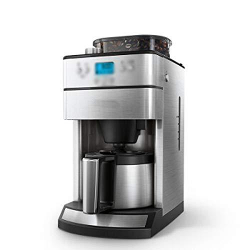 LJHA kafeiji Amerikanische Kaffeemaschine, vollautomatische Kaffeemaschine Mahlwerk Drip Kaffeemaschine Hause Kaffeemaschine Filter Kaffeemaschine 386mm × 292mm × 494mm Metallic-Farbe