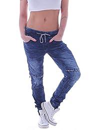 0fdcc6f75c0a90 Style-Station Damen Unisex Boyfriend Harems Jeans Hose Baggy Pants Hüftjeans  Übergröße