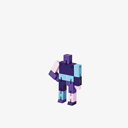 Areaware CUBEBOT® Capsule Collection   3D Puzzle Roboter   Violett Multi   David Weeks (Micro)