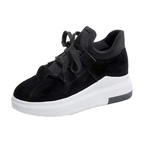。◕‿◕。 Meilleure Vente! LuckyGirls Baskets LuckyGirls Automne Mode Chaussures Femme Étudiants Respirant, Chaussures Décontractées, Chaussures de Course, 5 cm 35-39