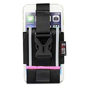 BUBM Sport Phone Bag Neck Strap Hanging Armband For 4.5-6.5 Inch Phone-Rose Red