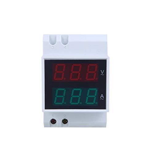 Morza D52-2042 Dual LED para Carril DIN AC80-300V del amperímetro del voltímetro Digital del Metro del Voltaje Actual
