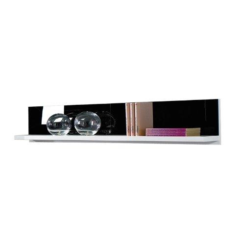 Wohnwand Set FREESTYLE131 Glasfront schwarz, weiß - 3