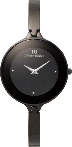 Danish Design Women's 32mm Black Steel Bracelet & Case Quartz Analog Watch IV64Q747