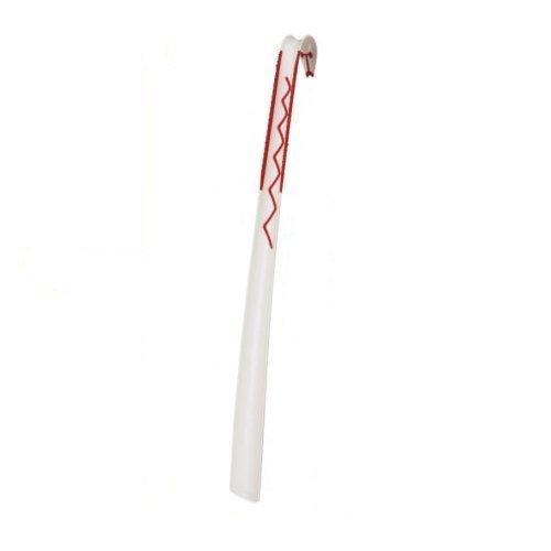 IKEA Schuhlöffel Omsorg Schuhanzieher Design-Schuhlöffel mit 60 cm Länge - aus stabilem Polycarbonat - Weiss