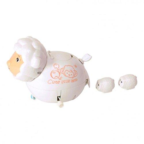 Schaf Aufziehfigur mit kleinen Lämmern - Schäfchen Wind Up Figur