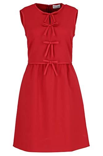 Red Valentino Damen Qr3va7200vmc61 Rot Viskose Kleid