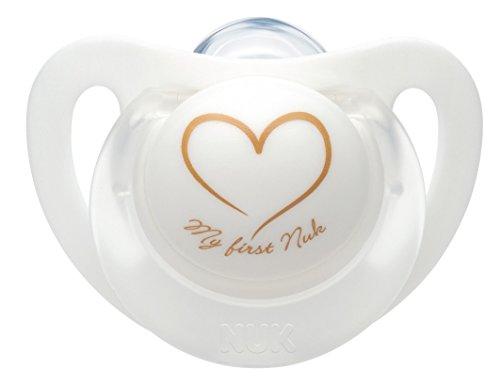 NUK 10256412 Welcome Set, perfekte Erstausstattung für Neugeborene, sieben NUK Produkte in einer schönen Tasche, Weiß/Grau/Mint Neutral - 7