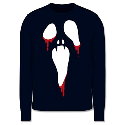 Kostüm Scream Kind 4 - Shirtracer Scream Halloween - 3-4 Jahre (104) - Navy Blau - JH030K - Kinder Pullover