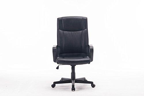 FurnitureR Sedia Girevole Regolabile in Pelle PU Computer Poltrona da Ufficio Con Schienale (Sedile In Pelle Task Chair)
