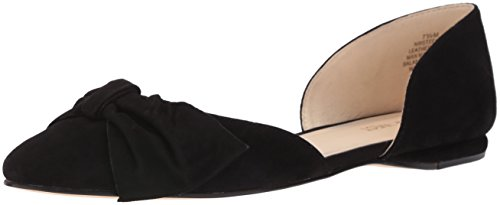 Nine West Stefany Daim Chaussure Plate Black