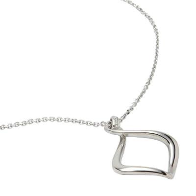Fossil Jewelry JF87273040 - Collar de acero inoxidable con circonita