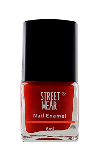 Street Wear Nail Enamel, Krazy Red, 8ml