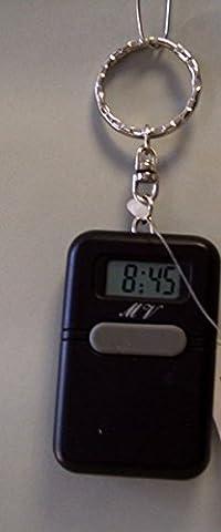 Schlüsselanhänger als sprechende Uhr, Schwarz (Blindenuhr)