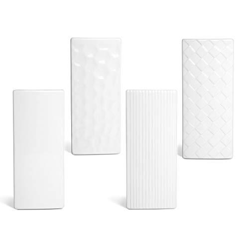 Luftbefeuchter 4-teiliges Set aus Keramik RELIEF flach zur Befestigung am Heizkörper Heizung Wasserverdunster Diffuser a1669