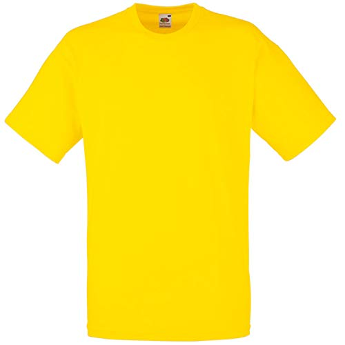 Fruit of the Loom - T-Shirt \'Valueweight T\' / Yellow, 3XL