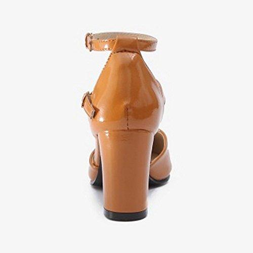 Donne Tacchi Razamaza Blocco Caramello Scarpe 5qp680t