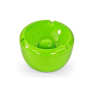 ASIS nettrade Aschenbecher Ascher aus Kunststoff - 1 Stück - Farbe: Grün - Durchmesser 10,0 cm - einfach - cool - günstig