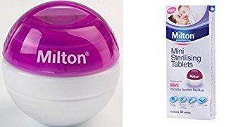 Milton Mini Schnuller Sterilisator (lila) - Steriliser + 50 Tablets (Mini-sterilisator)