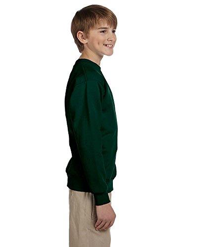 Hanes Youth ComfortBlend EcoSmart Crewneck Sweatshirt_Deep Forest_XS
