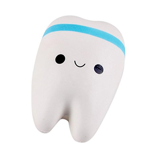 Preisvergleich Produktbild Luqiqi Neue nette kreative Smiley Zahn sehr weich langsam steigenden Squeeze selten Kinder Spielzeug