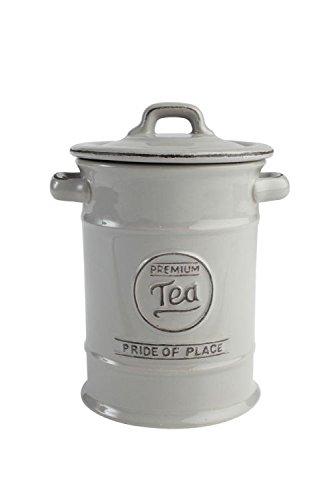 T & G Pride of Place Boîte à thé pot de rangement en gris froid 18090