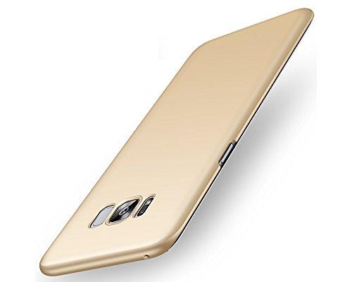 EIISSION Samsung Galaxy S8 Hülle,EMIRROW schlicht dünn Leichte Cover SlimShell Case PC Schutzhülle für Samsung Galaxy S8 Handyhülle,Gold
