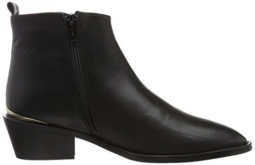 GARDENIA COPENHAGEN Pointy Boot On Heel, Stivaletti Donna Nero (Velvet Black)