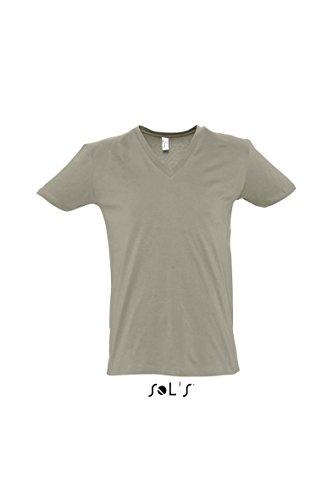 Short Sleeve Tee Shirt Master L,Khaki (Tee Cashmere Short Sleeve)