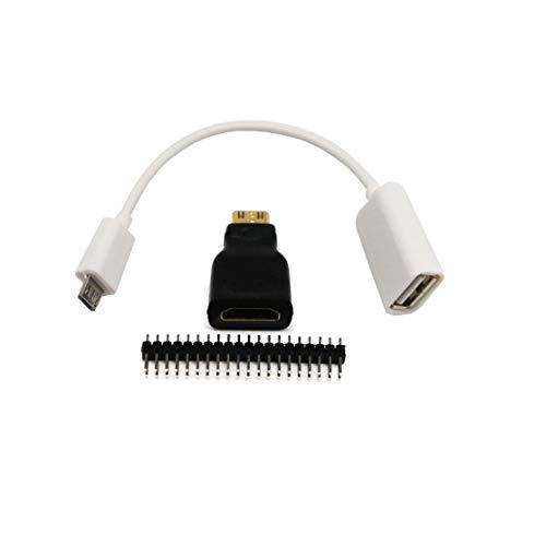 Preisvergleich Produktbild LouiseEvel215 3In1 Für Raspberry Pi Zero Adapter Kit Mini-HDMI zu HDMI Micro USB-USB-Buchse