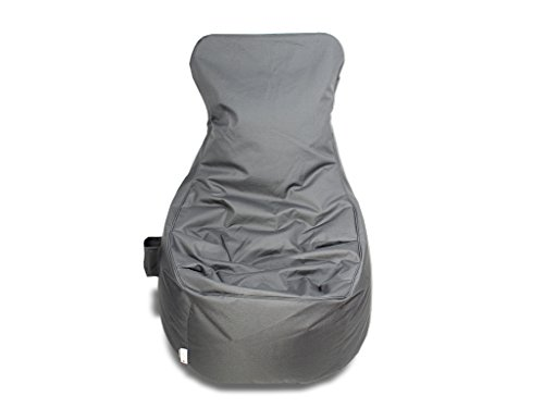 kissenwelt.de Sitzsack Sessel - Grau - Polyester - L70 x B65 x H90 cm - In/Outdoor Sitzsack- Made in Germany