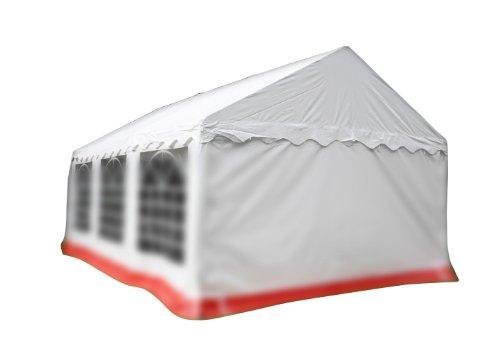 Nexos Pavillondach/Ersatzdach/Wechseldach/Dachbezug für Partyzelt Festzelt Zelt 4x6 m - Dachplane 400g/m² PVC wasserdicht - Farbe: weiß