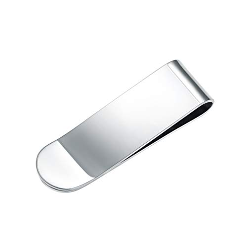 Prosteel fermasoldi uomo classico semplice minimalista in acciaio inossidabile, con confezione, regalo per ragazzo marito padre - argento