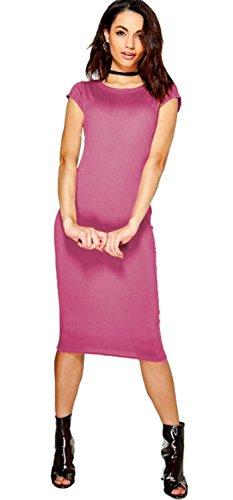 Vanilla Inc - Robe - Manches Courtes - Femme rouge * taille unique Corail