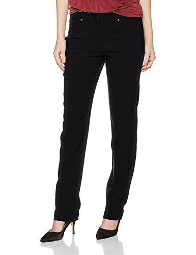 Gina Laura Große Größen Damen Hose GL_4 Pocket_N Länge Schwarz (Schwarz 10), 46