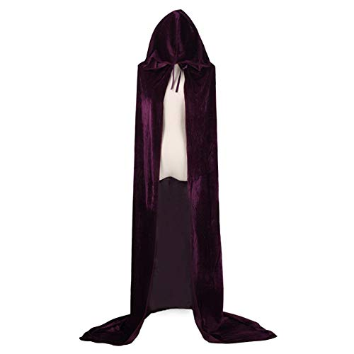 (JYJSYM Halloween, Todesumhang COS Wizard Witch Prince Prinzessin Gold Samt Cape Umhang, Lila, 80cm)