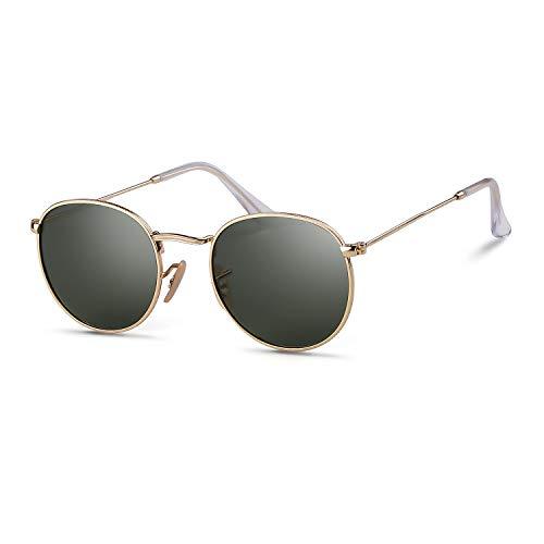 ADEWU Retro Runde Sonnenbrille Polarisierte Kreis Verspiegelt Linse für Herren Damen