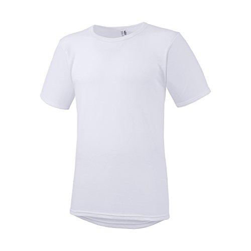 8c51ee6c69813 Adamo T-Shirt Blanc Royal côte Fine by Fashion // Grandes Tailles jusqu'à  20, Taille:10