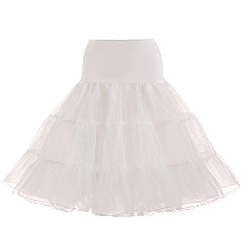 NUOMIQI 50er Jahre Petticoat Vintage Retro Reifrock Petticoat Unterrock für Wedding Bridal Petticoat Rockabilly Kleid in Mehreren Farben Beige