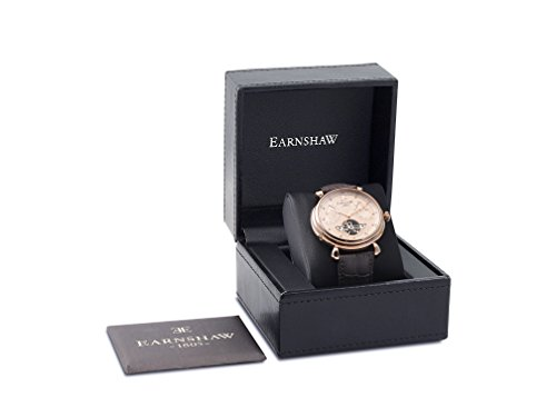 Thomas-Earnshaw-Mens-Grand-Calendar-Rose-Gold-Automatic-Watch-with-Brown-Dial-Analogue-Display-and-Brown-Leather-Strap-ES-8046-03