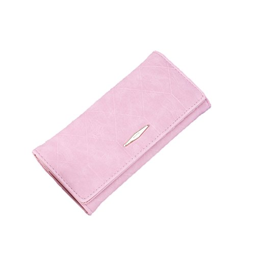 YSoutstripdu Purse Clearance Fashion Rhombus Embossed Wallet Long Coin Purse Women Hasp Clutch Card Holder - Black -